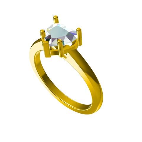 Download STL file 3D Jewelry CAD Model For Heart Ring • 3D printer model, VR3D