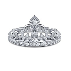 Download STL Womens Crown Ring 3D CAD Model In STL Format, VR3D