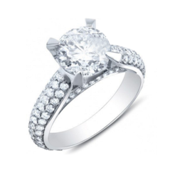 Free 3D printer files Free !! Jewelry 3D CAD Model Of Solitaire With Accents Ring, VR3D