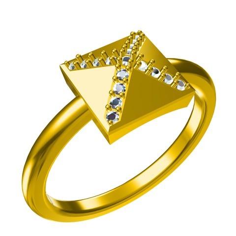 Download free STL Free !! 3D CAD Model For Pyramid Ring, VR3D