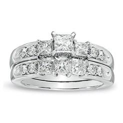 RG26938 (3).jpg Download STL file 3D Jewelry CAD File Wedding Bridal Ring Set • 3D printer model, VR3D