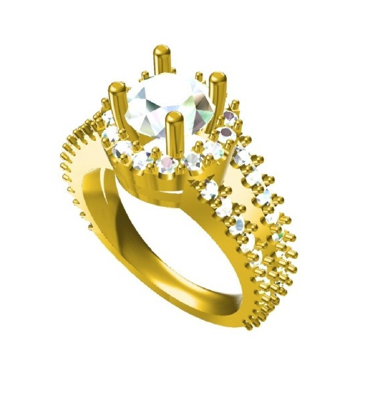 RG26844 (2) - Copy.jpg Download STL file Jewelry 3D CAD Design Wedding Ring • 3D print design, VR3D