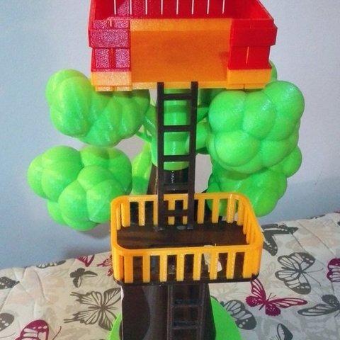Free 3D printer files Tree house, kabecz