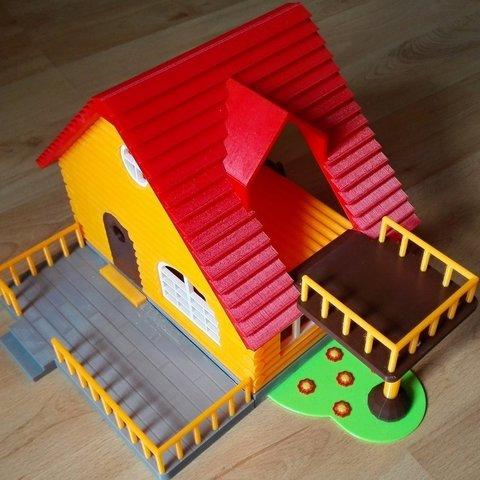 Free 3D printer designs Log cabin, kabecz