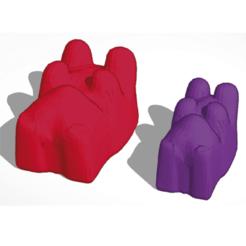 Download free 3D model gummy bear for mold, JavierYoldi