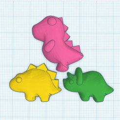 Download free 3D printing models DINO GUMMY for mold, JavierYoldi