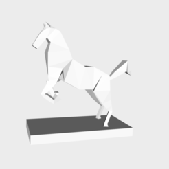 Free 3D printer designs Horse low poly, KernelDesign