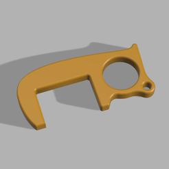 Download free STL file AntiCovid Hook • 3D print template, KernelDesign