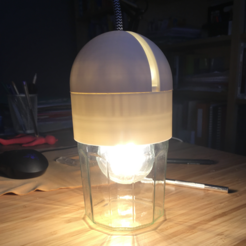 archivos stl Lámpara jarra de mermelada, KernelDesign