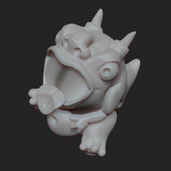 gargouillePoubelle.jpg Télécharger fichier STL gratuit Gargouille Poubelle • Modèle à imprimer en 3D, KernelDesign