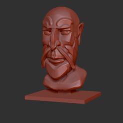 HommeBarbe.png Télécharger fichier STL gratuit Buste d'homme à barbichette • Design pour impression 3D, KernelDesign