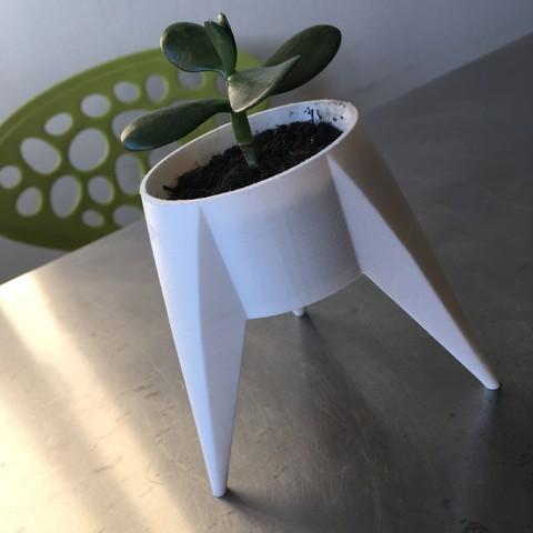 Free 3D printer files Pot de fleurs tripode, KernelDesign