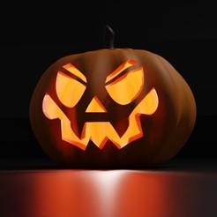Rendu.jpg Télécharger fichier STL gratuit Lantern Jack pour Halloween • Modèle imprimable en 3D, KernelDesign