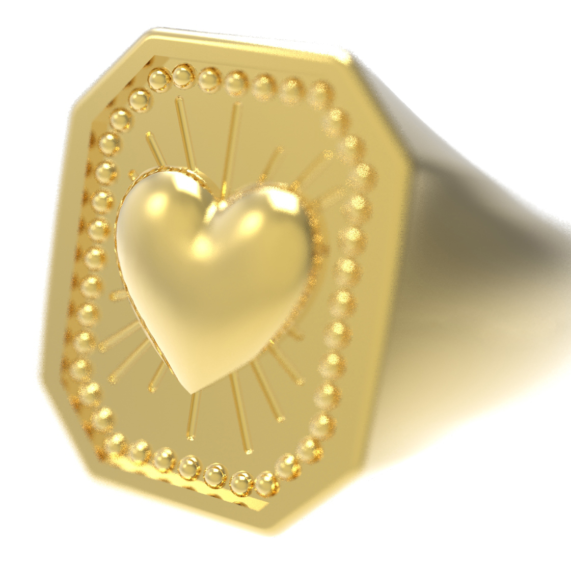 render_6.jpg Download free STL file CRUSH LOVE CHEVALIER RING • 3D printable object, Genny