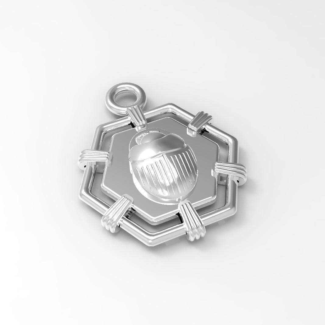 render_1.jpg Download free STL file SCARAB AMULET  • 3D printable design, Genny