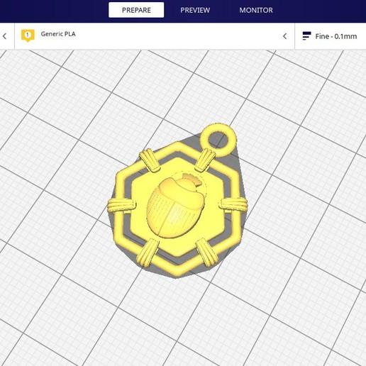 render_3.jpg Download free STL file SCARAB AMULET  • 3D printable design, Genny