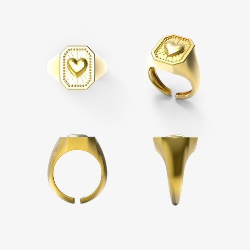 insieme.jpg Download free STL file CRUSH LOVE CHEVALIER RING • 3D printable object, Genny