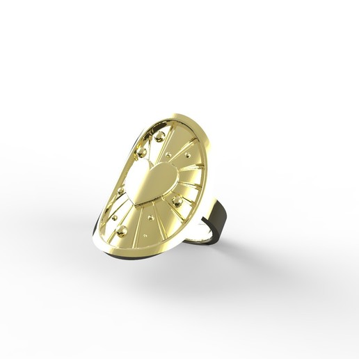 render_0.jpg Download free STL file ASTRAL LOVE RING • 3D printable template, Genny