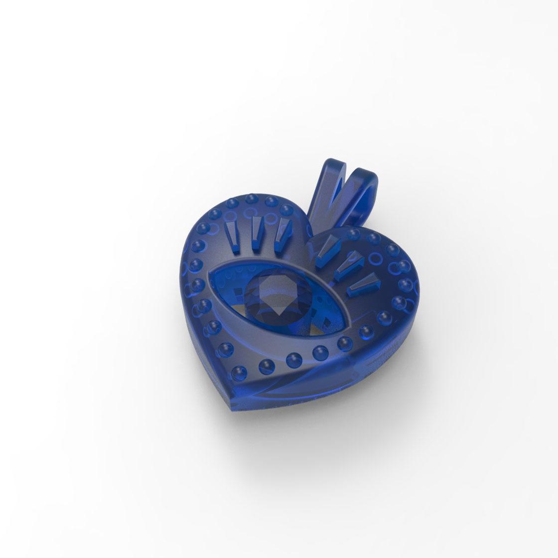 render_4.jpg Download free STL file EVIL EYE PENDANT NECKLACE • 3D print object, Genny
