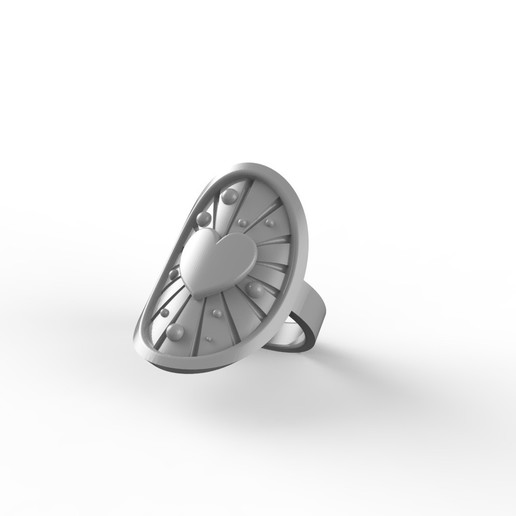 render_0_plastic.jpg Download free STL file ASTRAL LOVE RING • 3D printable template, Genny