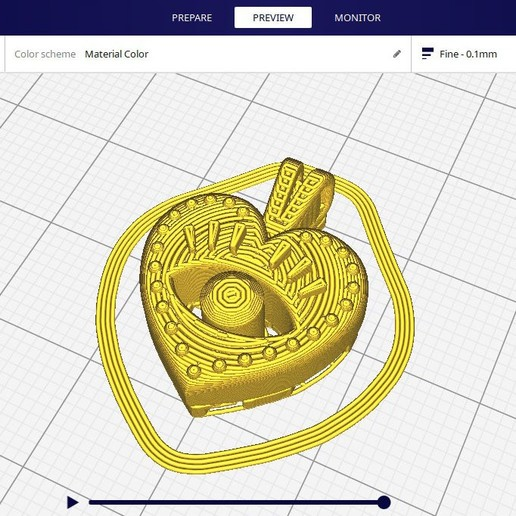 render_5.jpg Download free STL file EVIL EYE PENDANT NECKLACE • 3D print object, Genny