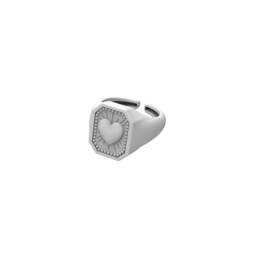render_5.jpg Download free STL file CRUSH LOVE CHEVALIER RING • 3D printable object, Genny