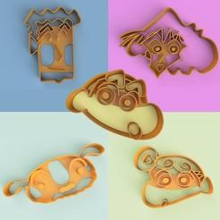 pack shinchan.jpg Télécharger fichier OBJ TIBIA-CHAN COUPE-BISCUITS PAQUET 1 • Modèle pour impression 3D, DUP3D