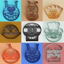 ANPANMAN.jpg Télécharger fichier OBJ Anpanman ! Moule à biscuits • Design imprimable en 3D, DUP3D