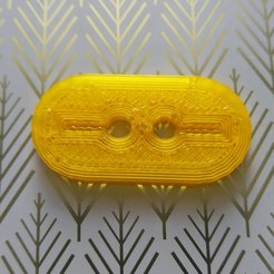 Download free 3D printing templates Mask Lace-up Clasp, oreomitch