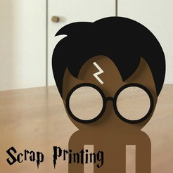 diseños 3d gratis  Harry Potter Bookmark ⚡, ScrapPrinting
