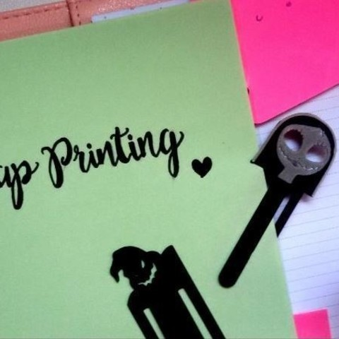 Download free 3D printing designs Sally Bookmark, ScrapPrinting
