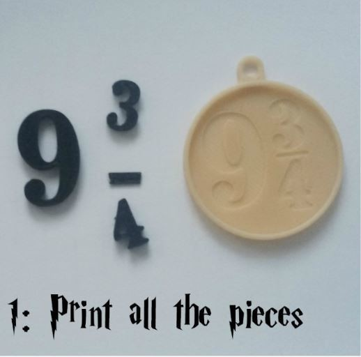C_1.JPG Download free STL file Harry Potter's Platform 9 3/4 Charm! • 3D printable object, ScrapPrinting