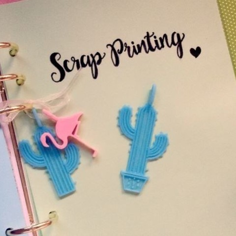 cactusc1.JPG Download free STL file Cactus Charm! • 3D printing design, ScrapPrinting
