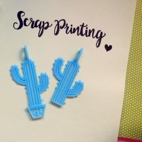 Free 3d printer designs Cactus Charm!, ScrapPrinting