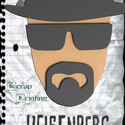 Free 3D printer files Heisemberg (Breaking Bad) Bookmark, ScrapPrinting