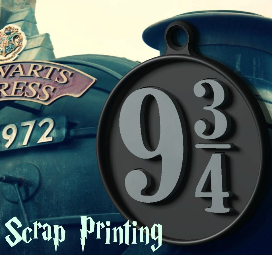 AndenC2.jpg Download free STL file Harry Potter's Platform 9 3/4 Charm! • 3D printable object, ScrapPrinting