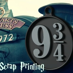 Free Harry Potter's Platform 9 3/4 Charm! 3D printer file, ScrapPrinting