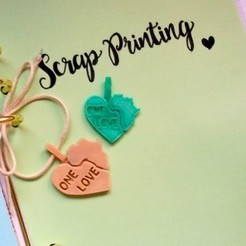 Download free 3D printing designs OneLove Africa Heart Charm, ScrapPrinting