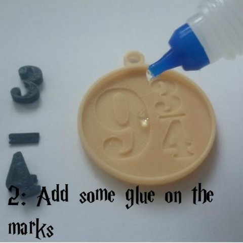 C_2.JPG Download free STL file Harry Potter's Platform 9 3/4 Charm! • 3D printable object, ScrapPrinting