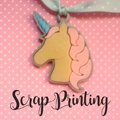 Free Unicorn Charm! (I.e. 3D printer file, ScrapPrinting