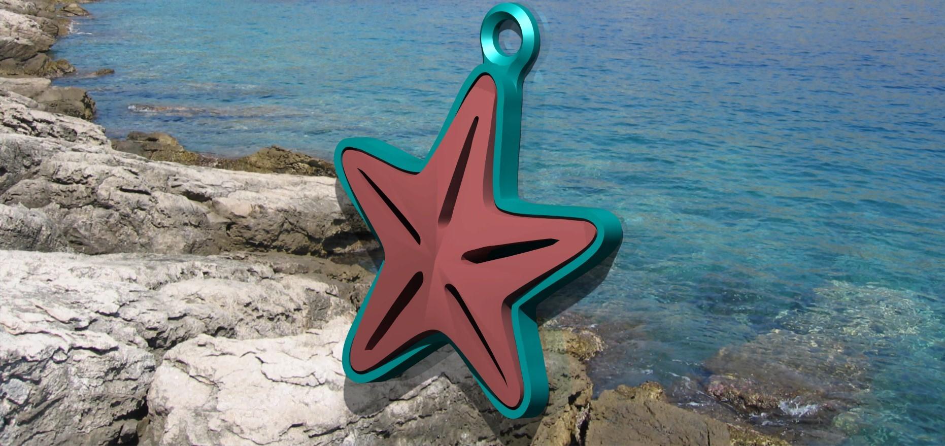 cari2.jpg Download free STL file Starfish Charm! (I.e. • 3D print template, ScrapPrinting