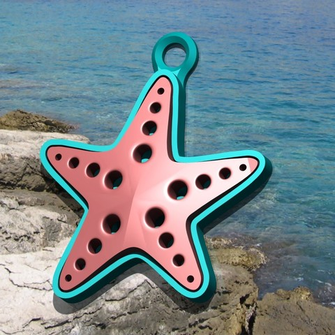 cari.jpg Download free STL file Starfish Charm! (I.e. • 3D print template, ScrapPrinting