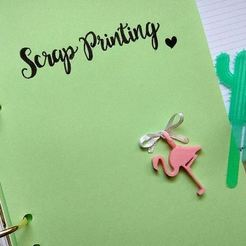 Download free 3D print files Flamingo Charm, ScrapPrinting