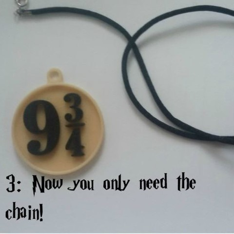 C_3.JPG Download free STL file Harry Potter's Platform 9 3/4 Charm! • 3D printable object, ScrapPrinting
