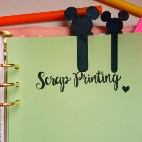 Free 3d model Mickey Bookmark, ScrapPrinting