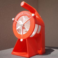 Télécharger plan imprimante 3D gatuit Air Raid Siren - hand crank version 2, MlePh