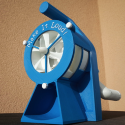 Free 3D printer model Air Raid Siren - hand crank version, MlePh