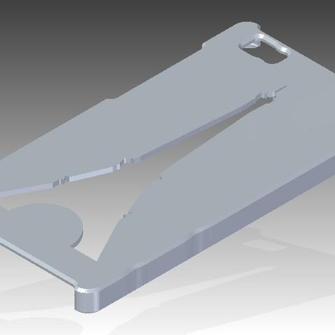 Download STL file Huawei P8 Lite Tour Eiffel Cover • Design to 3D print, Arge89