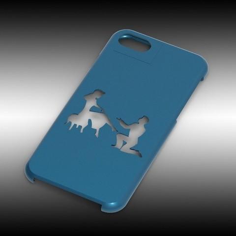 Iphone7_cenerentola.jpg Download STL file Iphone 7 Cinderella cover • 3D printer object, Arge89