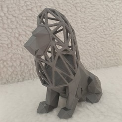 Download STL files Lion low poly - voronoi, Chris_90
